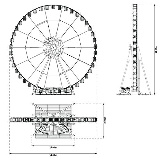 Riesenrad Grundriss