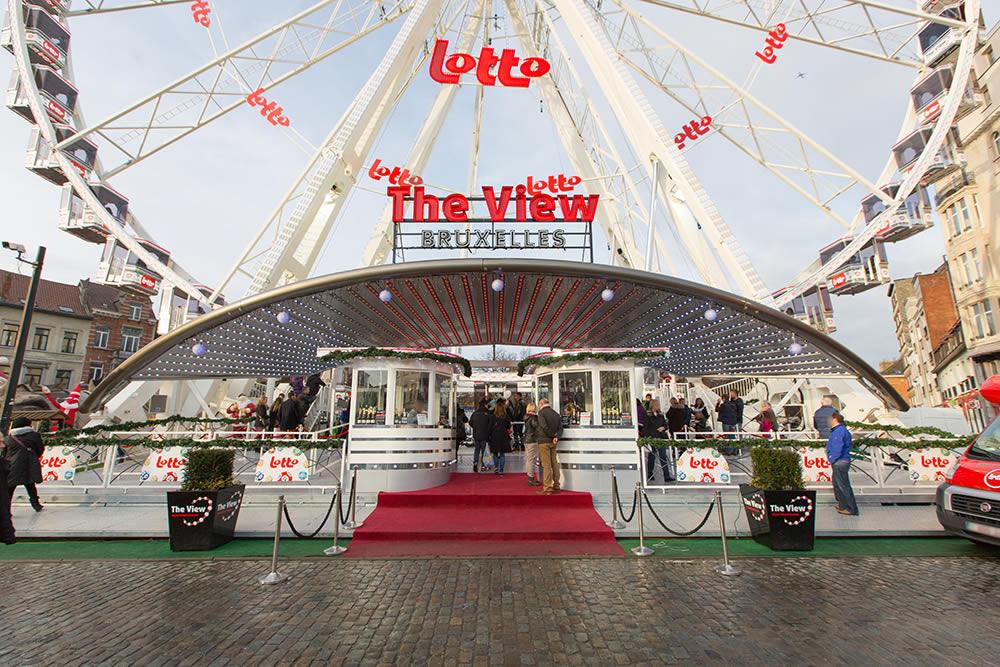 The View   Brüssel Weihnachtsmarkt